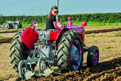 Ploughing her own furrow