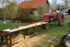 Classic tractors working hard