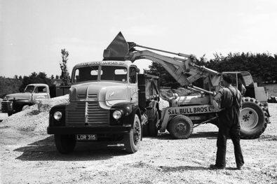 1950s lorries hard at work