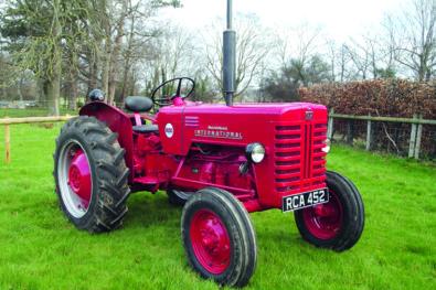 International B-250 tractor restored
