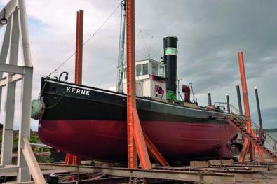 1912 Steam tug Kerne nearly ready
