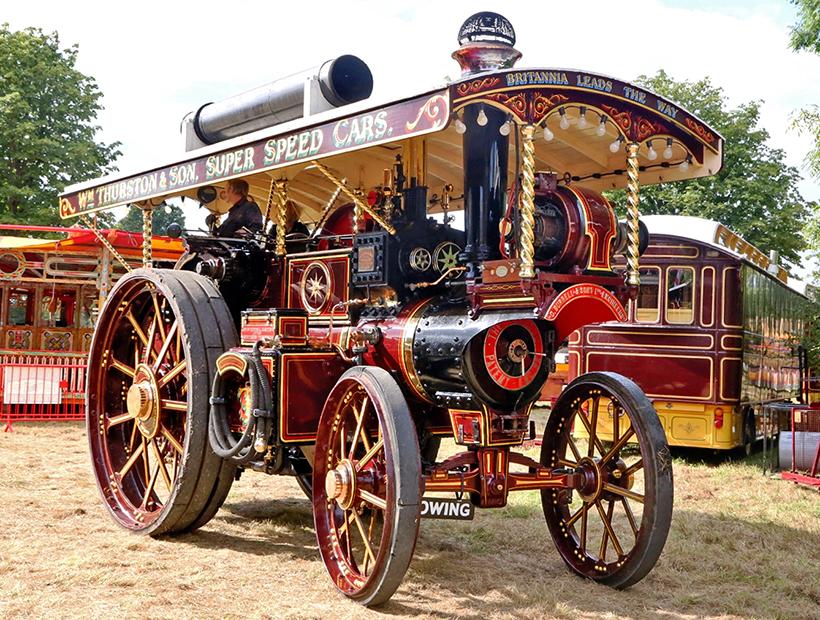 70-foot showman's road train