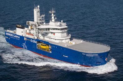 Wind farm support vessel delivered