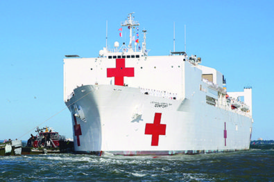 Medical support at sea