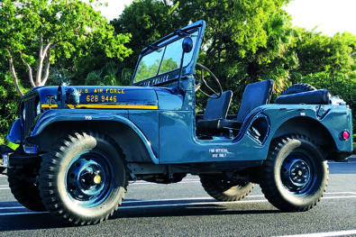 A 1950s military Jeep