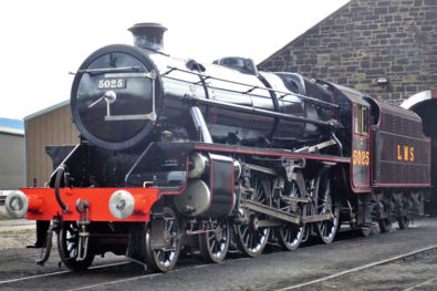 Newly-restored Black Five 5025