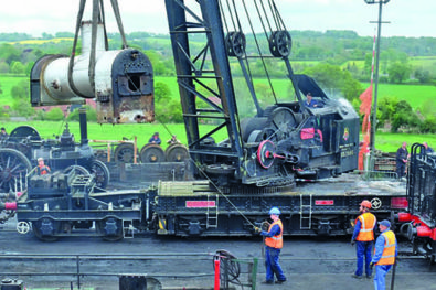 Ransomes & Rapier 45-ton steam crane