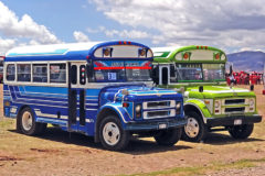 Colourful Bolivian buses!
