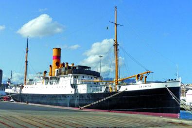 Classic steam ship La Palma