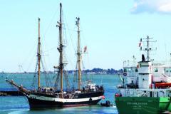 Historic tall ship on scientific voyage