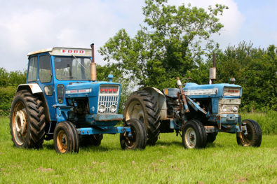 A famous Ford 5000 tractor