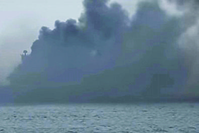The Admiral Kuznetsov catches fire!